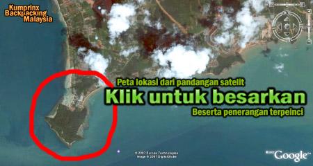pandangan satelit tanjung tuan